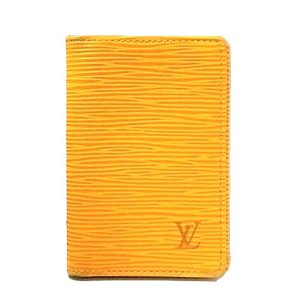 Louis Vuitton Epi Yellow/Purple Leather Pocket Organizer Wallet 8SP1003