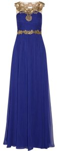 Marchesa Notte Illusion Chiffon Silk Gown Dress