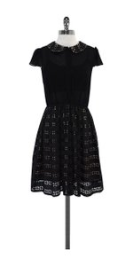 Alice + Olivia short dress Black Nude Eyelet on Tradesy