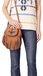 Tory Burch Suede Mini Saddlebag Lilium Cross Body Bag