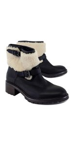 Coach Black Leather Shearling Gabriella Boots