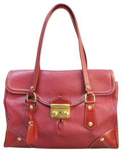 Louis Vuitton Lv Calfskin Red Shoulder Bag