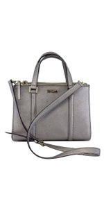 Kate Spade Pewter Leather Convertible Shoulder Bag