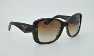 Prada Prada Sunglasses Brown Tortoise Gradient Brown Lens + Case