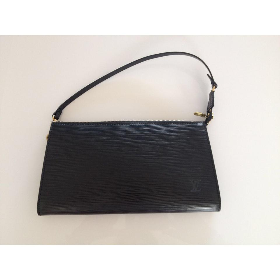Louis Vuitton Pochette Accessoires Pochette Black Epi Leather ... 67195e73e7