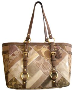 Coach Tote in Gold/Multi-color Patchwork