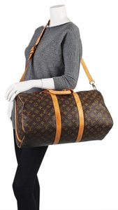 Louis Vuitton Duffle Keepall Bandouliere Gym Weekender Travel Bag