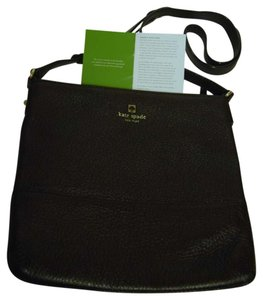 Kate Spade Pebbled Leather Messenger Crossbody Black Messenger Bag