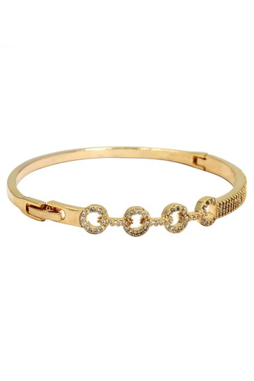 Preload https://img-static.tradesy.com/item/20697319/gold-circle-inlaid-small-crystal-bracelet-0-0-540-540.jpg