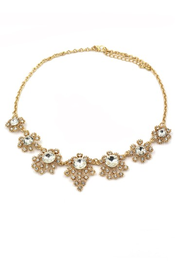 Ocean Fashion Noble flower crystal gold necklace