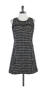 MILLY short dress White Black Tweed Sleeveless on Tradesy
