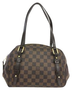 Louis Vuitton Lv Damier Ebene Rivington Pm Canvas Shoulder Bag
