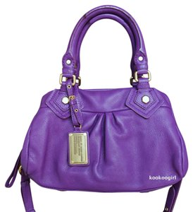 Marc Jacobs Pebble Leather Satchel in Violet