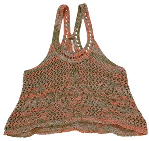 Free People Top Orange & Green