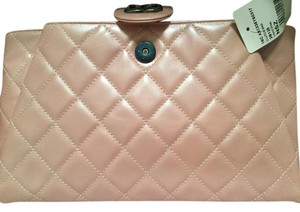 Chanel Discontinued Pink pearl Clutch