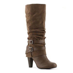 Fergalicious by Fergie Zip Taupe Boots