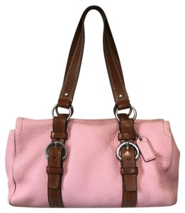 Coach Satchel in Pink & Brown