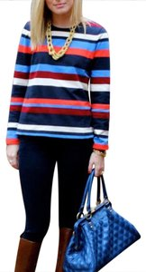 J.Crew Top red blue