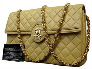 Chanel Paris Edition Limited Edition Quilted Tan Brown Shoulder Bag