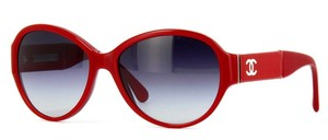 Chanel Chanel 5229Q Red Round Oval Grey Gradient Sunglasses