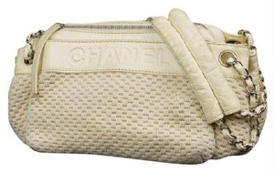 Chanel Chain Satchel Chain Tote Quilted Woven Shoulder Bag