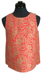 J.Crew Floral Sleeveless Top Fuchsia and Beige