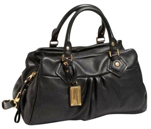 Marc Jacobs Leather Satchel in Black