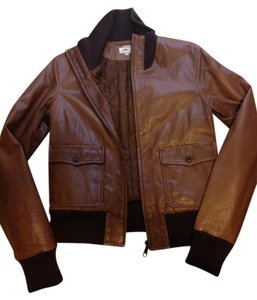 June Brown Leather Jacket