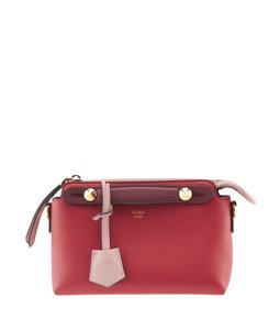 Fendi Color Block Leather Cross Body Bag