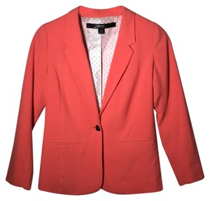 Kensie Ships Next Day Like New Contemporary Classic Spring Coral Blazer