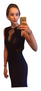 Xscape Lace Front Navy Blue Military Ball Sexy And Classy Open Back Dress