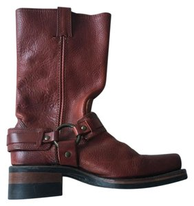 Frye Belted Harness Burnt red Boots