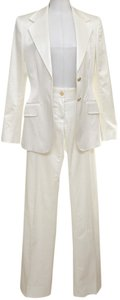 Dolce&Gabbana Dolce & Gabbana Pearly Off White Pant Blazer Suit Outfit 2PC 40 VINTAG