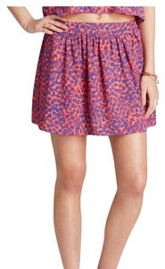 Aqua New Without Tags Worn On Tv Spring Ships Next Day Mini Skirt Floral / Multi