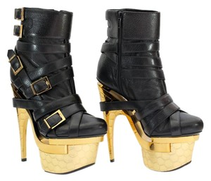 Versace Leather Platform Black Boots