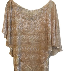 Style & Co Top gold/ beige