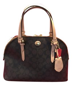 Coach Satchel in Brown/Black/Tan