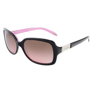 Ralph Lauren Ralph Lauren Black/Pink Stripe Rectangular sunglasses