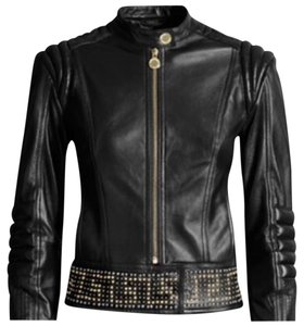 Versace for H&M Leather Studded Motorcycle Motorcycle Jacket