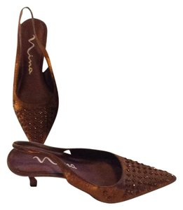 Nina Shoes Bronze Liquid Formal