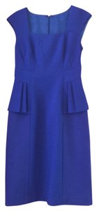 Kay Unger Bright Peplum Dress