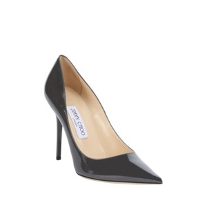 Jimmy Choo Luxury Classic Made In Italy Grey patent leather Pumps