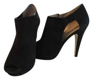 Nine West Peep Toe Suede Black Boots