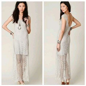Free People Spun Dreams Of Crochet Dress
