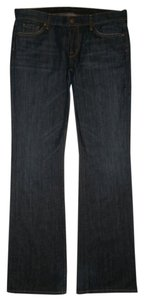 Citizens of Humanity 5 Pocket Style Zip Fly Cotton/spandex Boot Cut Jeans-Dark Rinse
