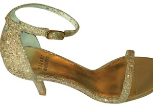 Stuart Weitzman Gold with embellished accents Pumps