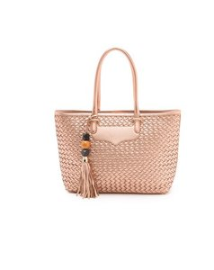 Rebecca Minkoff Woven Perfection Leather Tote in ROSE GOLD
