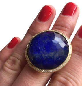 Ippolita Large Lollipop Diamond 18-Karat Gold Lapis Ring