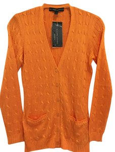 Ralph Lauren Cable Knit Silk New With Tags Cardigan