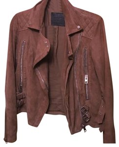 All Saints suede moto jacket Motorcycle Jacket